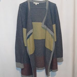 Cabi Drape Front / Open Front Knit Cardigan